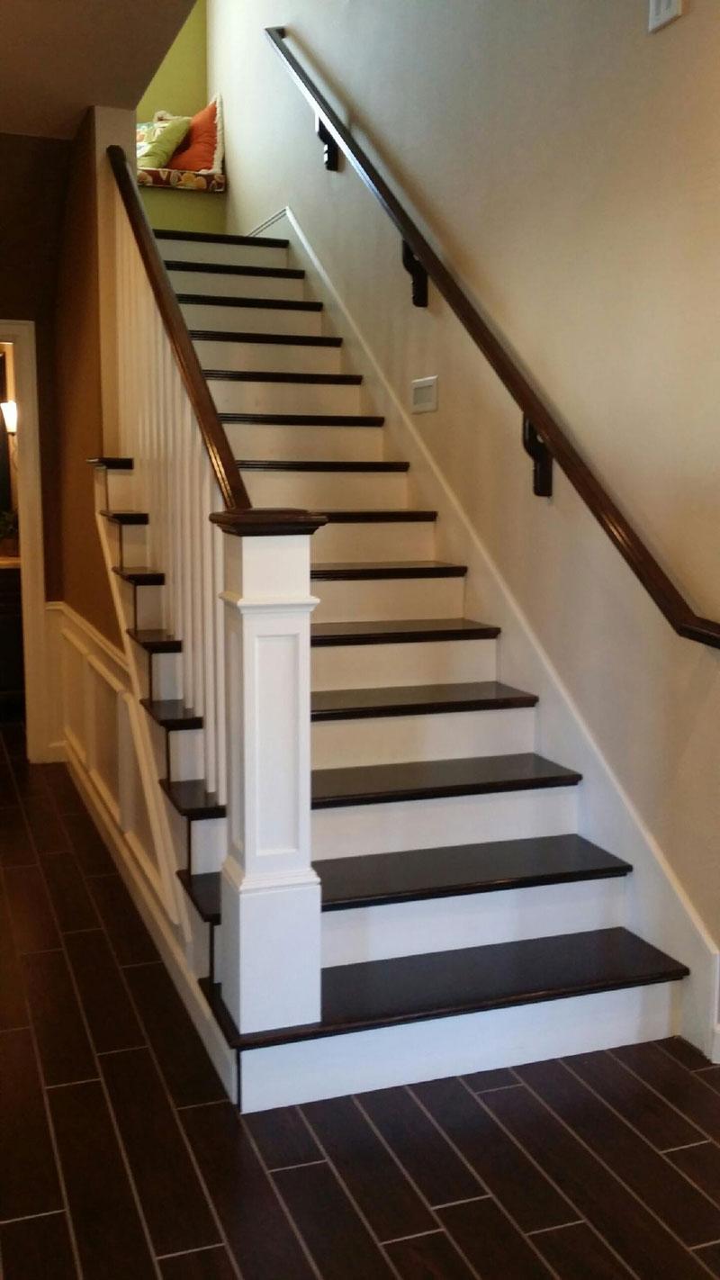 Custom stairs stair remodel showroom arizona stairs for Custom stair